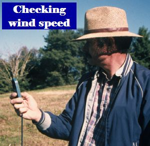 Checking wind speed